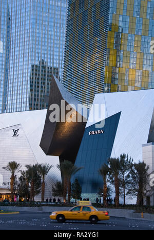 The Shops at Crystals, also known as Crystals at CityCenter is a luxury shopping mall in the CityCenter complex on the Strip, Las Vegas, Nevada. - Stock Photo