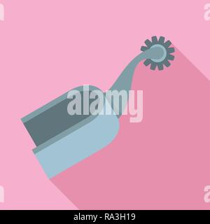 Horse spurs equestrian riding icon. Flat illustration of horse spurs equestrian riding vector icon for web design - Stock Photo