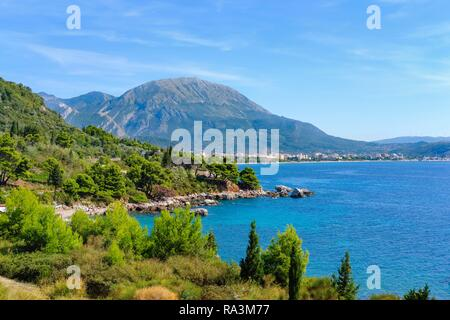 Coast at Crvanj Beach, Bar, Adriatic Coast, Montenegro - Stock Photo