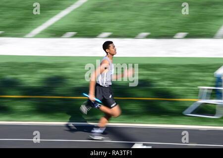 Sprinter in motion - Stock Photo