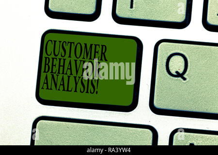 Word writing text Customer Behavior Analysis. Business concept for buying behaviour of consumers who use goods Keyboard key Intention to create comput - Stock Photo