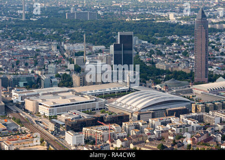 Aerial of Frankfurt, mainly Fair Trade area - Stock Photo