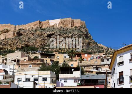 Castillo de Lorca, 13th century, Lorca, Murcia province, Spain, Europe - Stock Photo