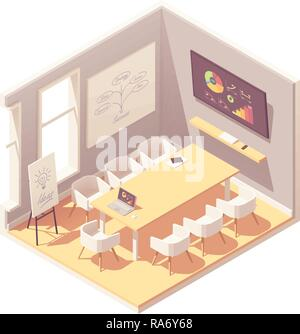 Vector isometric conference room - Stock Photo