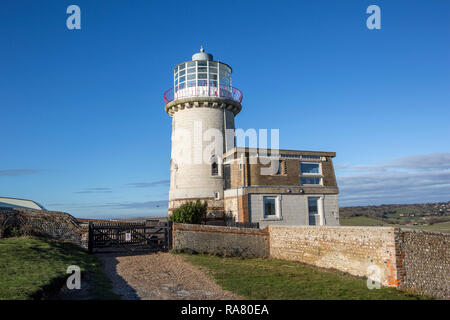 Belle Tout Lighthouse, Birling Gap, East Sussex. - Stock Photo