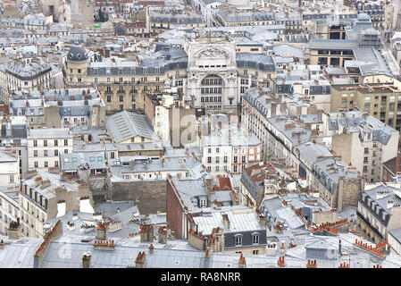 View over Paris, roofs, France - Stock Photo