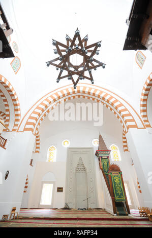 Juma-Jami Mosque (Friday Mosque) built 1552 to 1564 designed by the Ottoman architect Mimar Sinan for Khan Devlet I Giray in Yevpatoria, Ukraine. Sept - Stock Photo