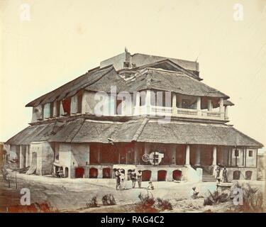Banks' House, Felice Beato (English, born Italy, 1832 - 1909), Henry Hering (British, 1814 - 1893), India, 1858 reimagined - Stock Photo