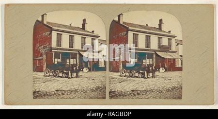 Lord Street. Southport, British, about 1865, Albumen silver print. Reimagined by Gibon. Classic art with a modern reimagined - Stock Photo