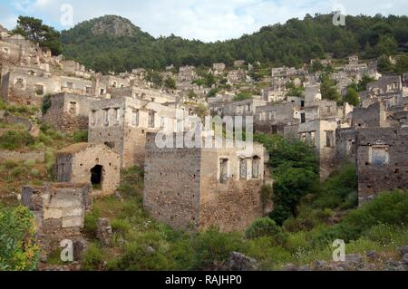 Greek ghost town of Levissi, Karmylassos, Kayakoey, Turkey - Stock Photo