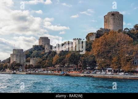 Rumelian Castle in Istanbul - Stock Photo