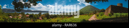 Panorama view of Banda island, top secret tourist place to go, Indonesia, Asia - Stock Photo