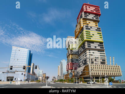 Lusail City new town under construction in Qatar, Middle East - Stock Photo