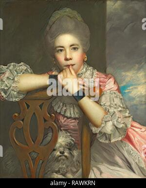 Mrs. Abington as Miss Prue in 'Love for Love' by William Congreve Mrs. Abington as Miss Prue in William Congreve's ' reimagined - Stock Photo