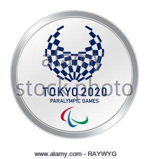 Tokyo 2020 logo Paralympics - Stock Photo