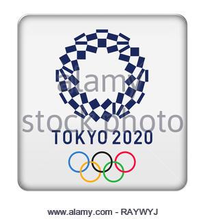 Tokyo 2020 logo sign - Stock Photo