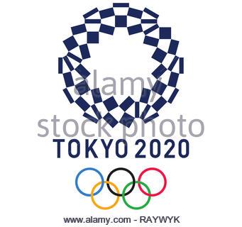 Tokyo 2020 Olympic Games logo - Stock Photo