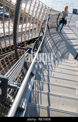 London bridge stairs abstract. London, England - Stock Photo