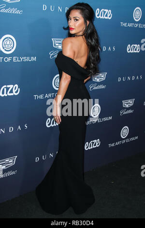 LOS ANGELES, USA - JANUARY 05: Nicole Scherzinger arrives at The Art Of Elysium's 12th Annual Heaven Gala held at a Private Venue on January 5, 2019 in Los Angeles, California, United States. (Photo by Xavier Collin/Image Press Agency) Credit: Image Press Agency/Alamy Live News - Stock Photo