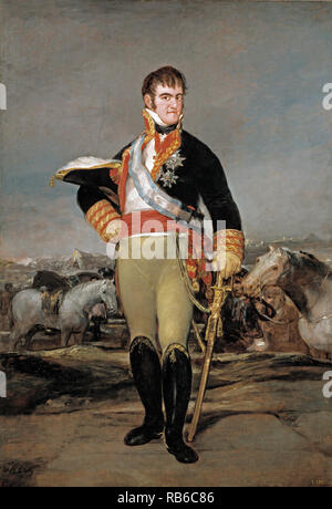 Ferdinand VII of Spain, King Ferdinand VII (1784 – 1833) twice King of Spain: in 1808 and again from 1813 to his death. - Stock Photo