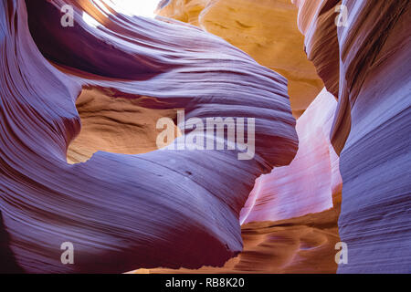 A natural sandstone formation that resembles a woman with flowing hair - Stock Photo
