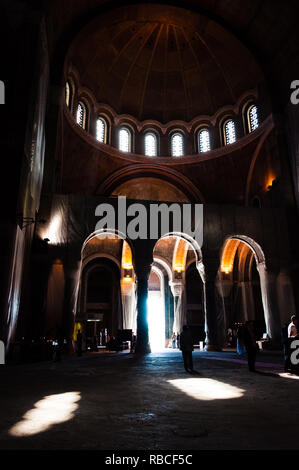 Belgrade, Serbia - June 09, 2013: Famous gorgeous interior halls and domes of the Saint Sava church from inside in Belgrade, Serbia - Stock Photo