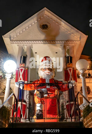 Christmas houses decorated for the 2018 holiday season in Dyker Heights, Brooklyn  Featuring: Atmosphere Where: New York, New York, United States When: 10 Dec 2018 Credit: Jeff Grossman/WENN.com - Stock Photo