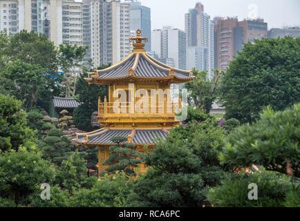 Nan Lian Garden in Diamond Hill area of Hong Kong - Stock Photo