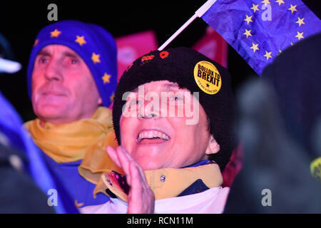 London, UK. 15th January, 2019. Hundreds attends People's vote to Stop Brexit rally due to Brexit vote in Parliament on 15 January 2019, London, UK Credit: Picture Capital/Alamy Live News - Stock Photo
