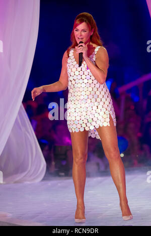 Andrea BERG, Germany, singer, Schlagersaengerin, musician, singing, singing, concert, performance, show, 'Schlagerchampions - the big festival of the best' on the 12.01.2019 in the Velodrom Berlin, | usage worldwide - Stock Photo