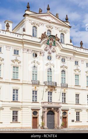 Prague Archbishop's Palace Hradcany Square Hradčanské náměstí Prague Czech Republic Europe - Stock Photo