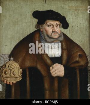 Portrait of Frederick III, Elector of Saxony (1463-1525). Museum: PRIVATE COLLECTION. Author: Cranach, Lucas, the Elder. - Stock Photo