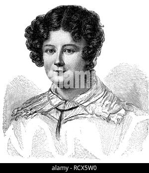 Marianne von Willemer, 1784-1860, actress and dancer from Austria, pictured in 1819, woodcut, 1888, historic engraving - Stock Photo