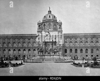 Early autotype of the Kunsthistorisches Museum of Art History, Vienna, Austria, historical photo, 1884 - Stock Photo