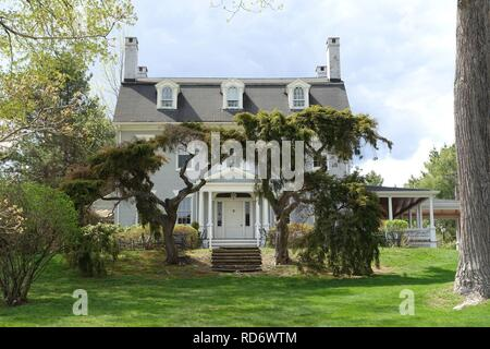 Amos Eno House (Simsbury 1820 House) - Simsbury, CT - - Stock Photo