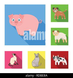 Isolated object of animal and habitat icon. Collection of animal and farm stock symbol for web. - Stock Photo