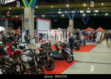 Malaga, Spain - May 20, 2018. Salon Moto & Bike Andalucía, Malaga city, Spain - Stock Photo