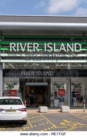 River Island store, Lakes, retail park, Northampton, England, UK - Stock Photo