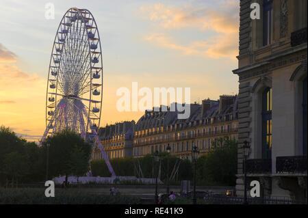 Ferris wheel in the Tuileries garden, Paris, France, Europe - Stock Photo