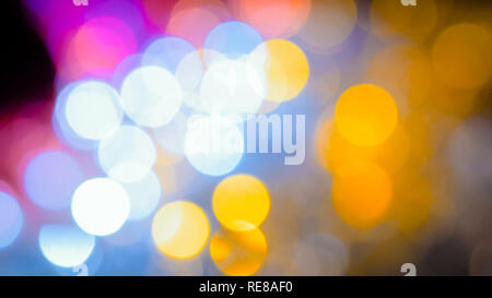 Christmas abstract garlands bokeh background. Holiday, celebration and new year concept - Stock Photo