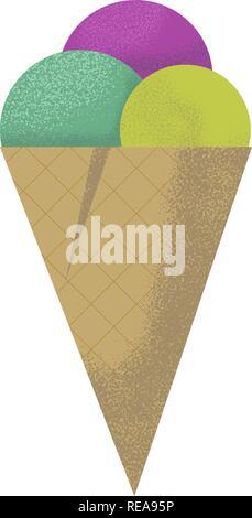 Hand drawn ice cream icon . Vector isolated - Stock Photo