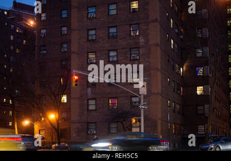 The massive NYCHA Elliot Houses complex of apartments in Chelsea in New York is seen on Saturday, January 19, 2019. (© Richard B. Levine) - Stock Photo