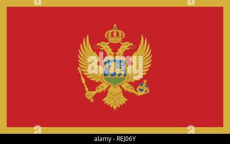 Montenegro Flag - Stock Photo