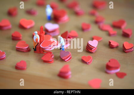 hearts on table - Stock Photo