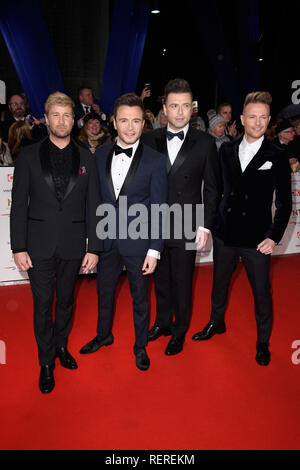 London, UK. 22nd Jan, 2019. LONDON, UK. January 22, 2019: Westlife at the National TV Awards 2019 at the O2 Arena, London. Picture: Steve Vas/Featureflash Credit: Paul Smith/Alamy Live News - Stock Photo