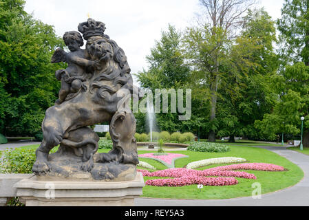 The wonderful gardens outside the Prague Castle - Stock Photo