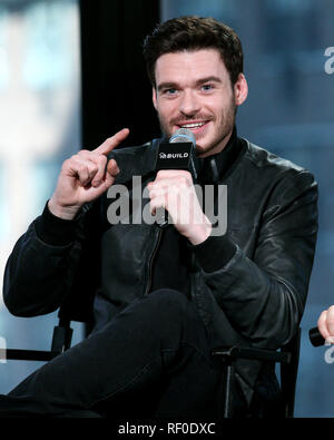 New York, USA. 09 Mar, 2015. Richard Madden at The Monday, Mar 9, 2015 AOL BUILD Series discussing the new film 'Cinderella' at BUILD Studio in New York, USA. Credit: Steve Mack/S.D. Mack Pictures/Alamy - Stock Photo