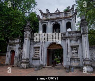 Văn Miếu Quốc Tử Giám at the Temple of Literature in Hanoi, Vietnam. - Stock Photo