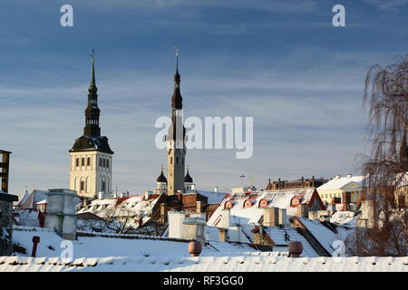 View from Helleman tower. Tallinn. Estonia - Stock Photo