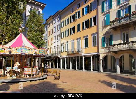 Varese Piazza del Podesta in Italy - Stock Photo